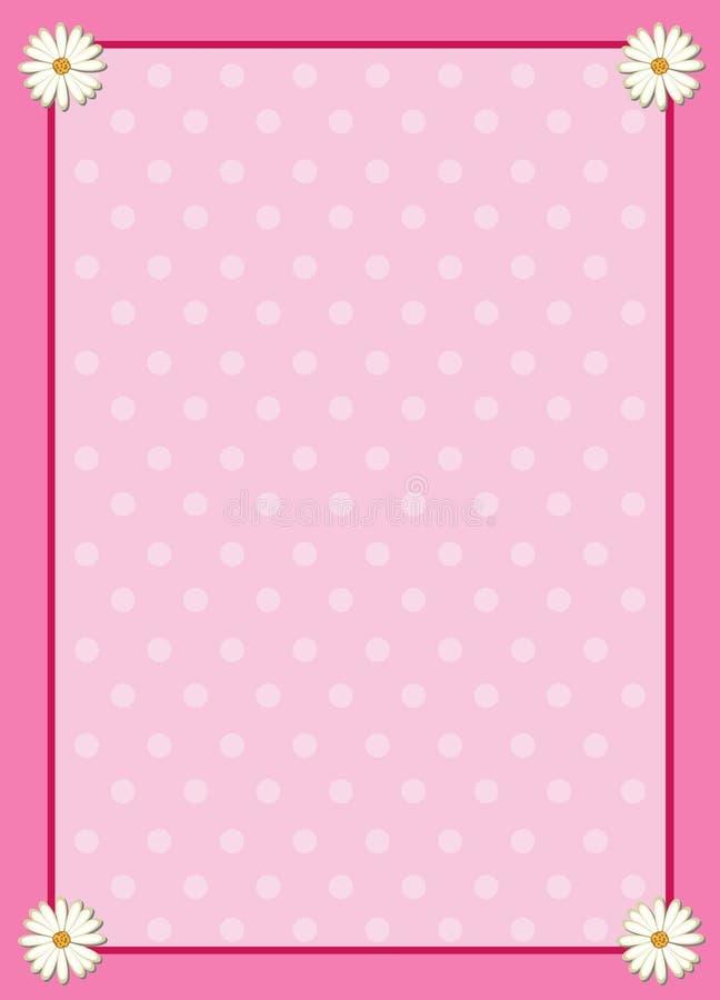 Roze frame vector illustratie