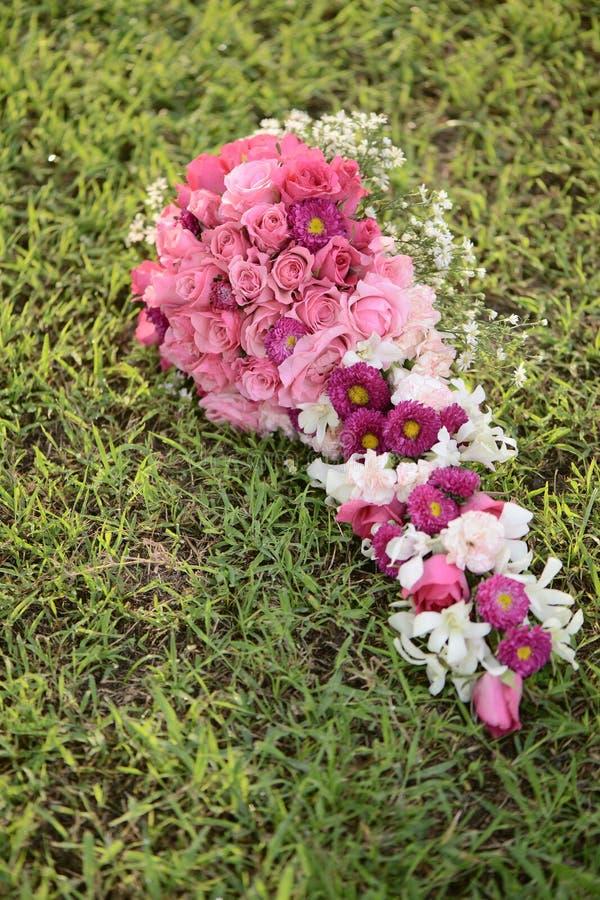 Roze Fuschia Pastel Theme Bouquet Flowers-Rozen royalty-vrije stock afbeelding