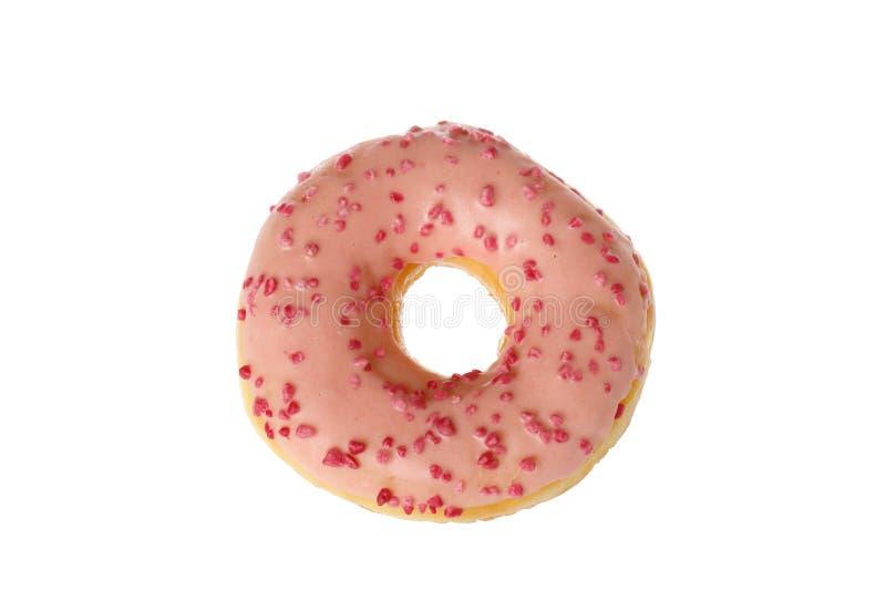 Roze geglazuurde donut stock afbeeldingen