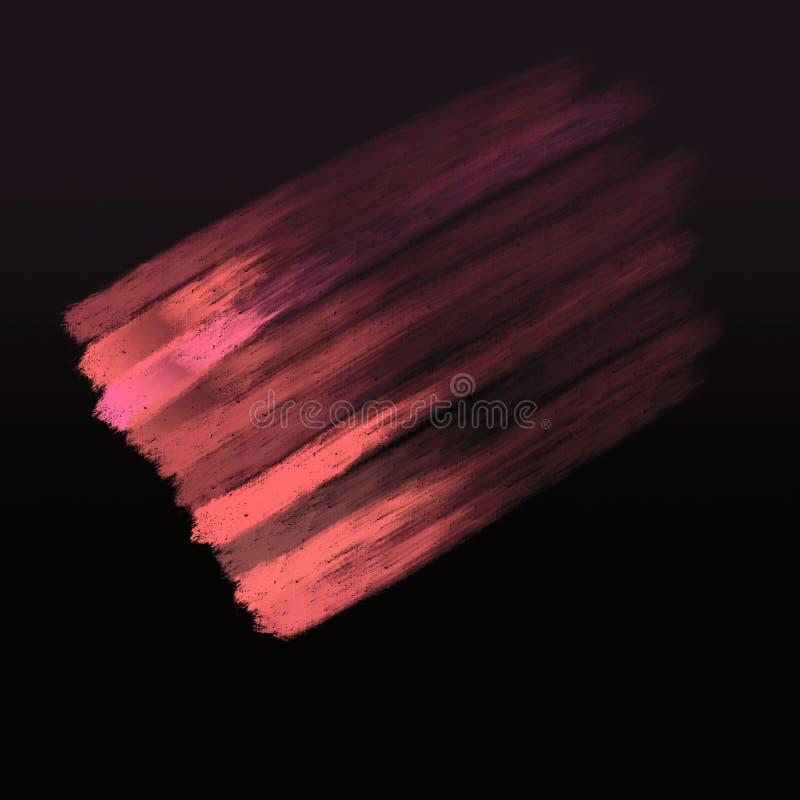 Roze gekleurde Kleurenmonsters met grungy gevolgen De achtergrond van de Grungeoppervlakte stock illustratie