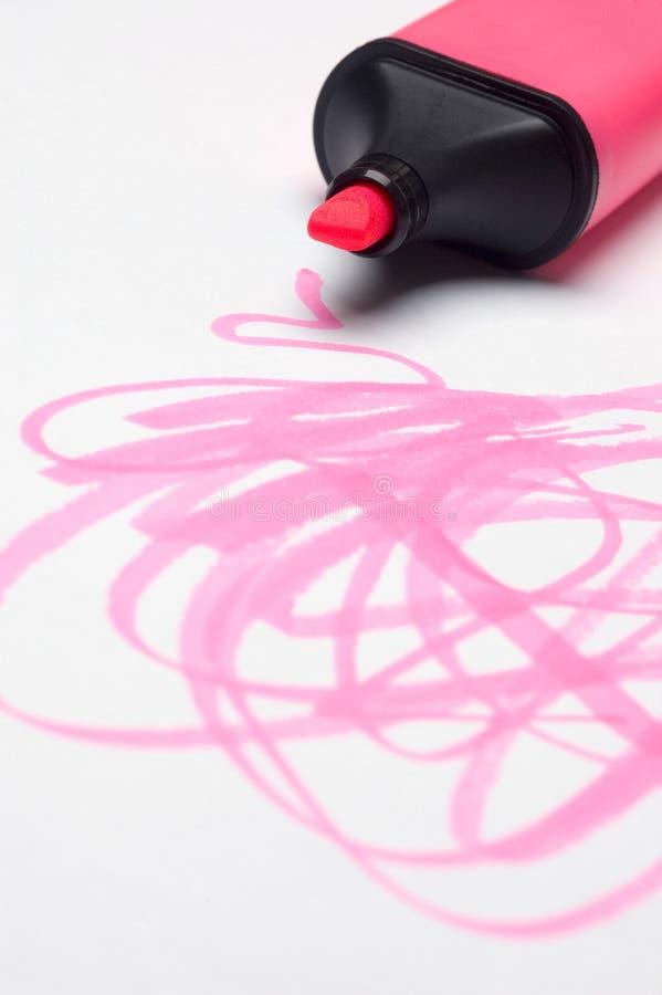 Roze gekrabbel Highlighter royalty-vrije stock foto