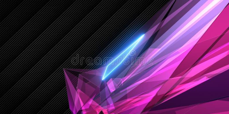 Roze Geometrisch Behang royalty-vrije illustratie