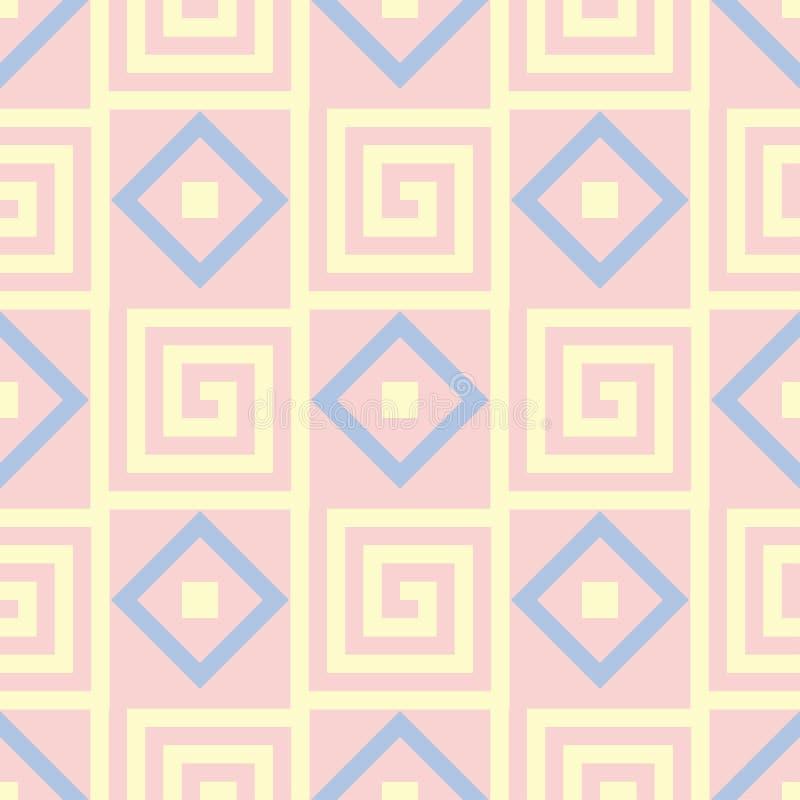 Roze geometrische naadloze achtergrond Multi gekleurd patroon royalty-vrije illustratie