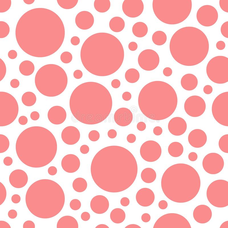 Roze geometrische rondesstip op wit naadloos patroon als achtergrond royalty-vrije illustratie