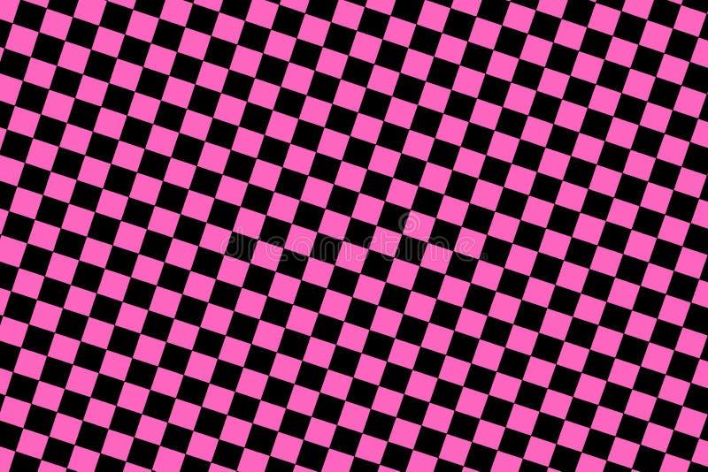 Roze geruite achtergrond royalty-vrije stock afbeelding