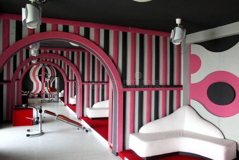 Roze geschiktheidscentrum royalty-vrije stock foto
