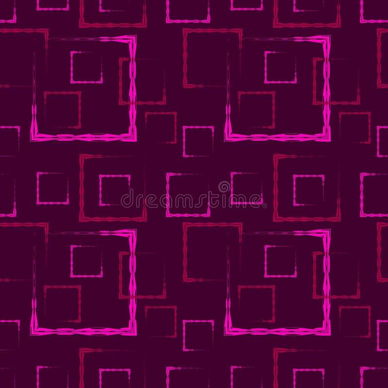 Roze gesneden vierkanten en kaders voor een abstract lilac achtergrond of een patroon stock illustratie