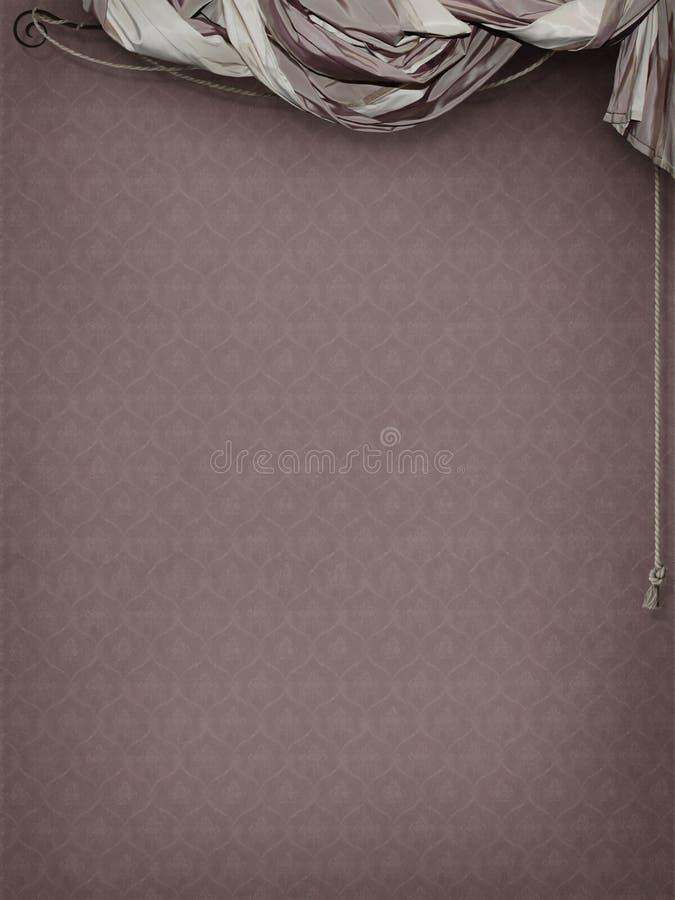 Roze gestreept gordijn vector illustratie