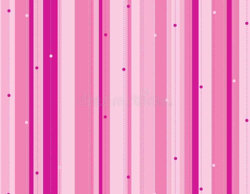 Roze gestripte achtergrond vector illustratie