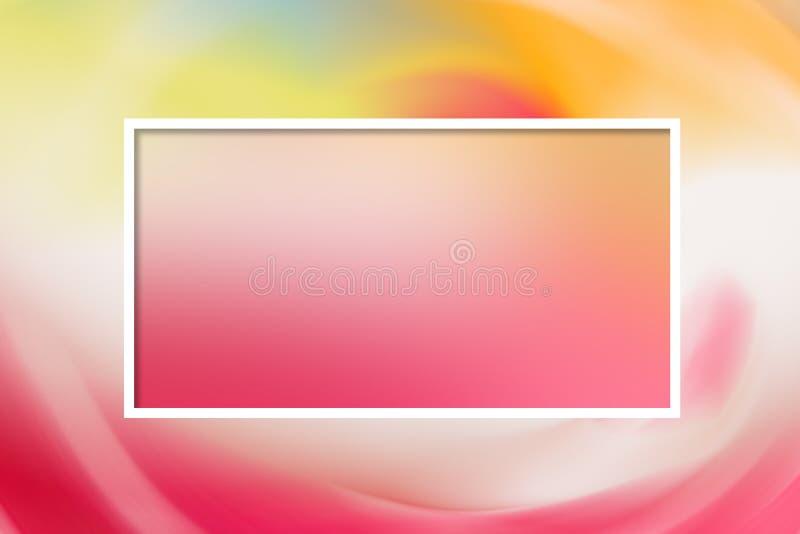 Roze gevoelig pastelkleurmalplaatje voor een kaart stock foto