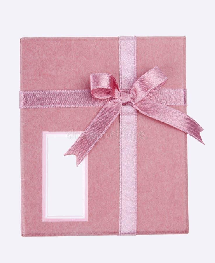 Roze gift-doos stock afbeelding