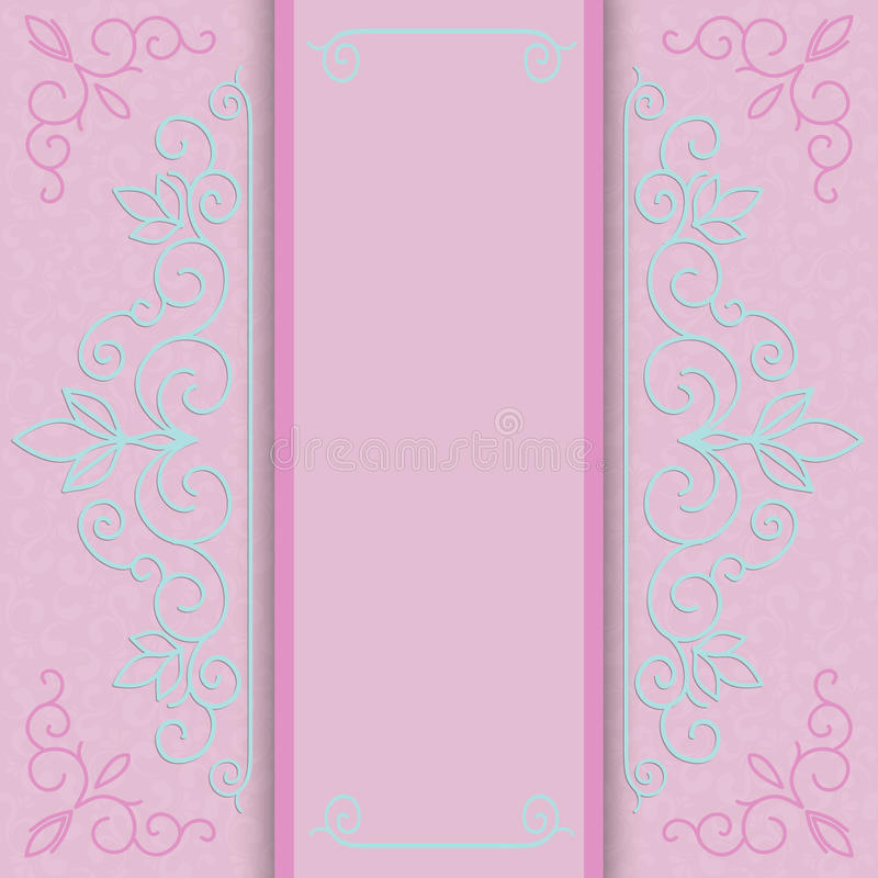 Roze giftkaart vector illustratie