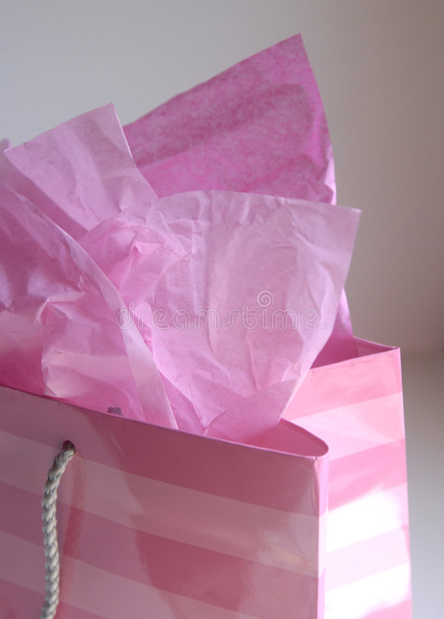 Roze giftzak   royalty-vrije stock fotografie