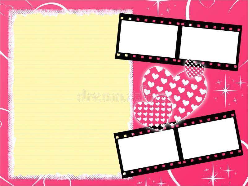 Roze girly achtergrond stock illustratie