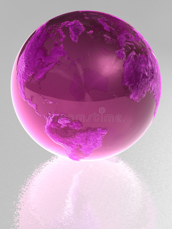 Roze glasbol vector illustratie