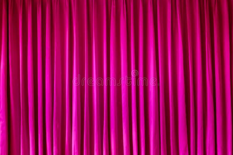 Roze gordijn voor achtergrond stock afbeeldingen