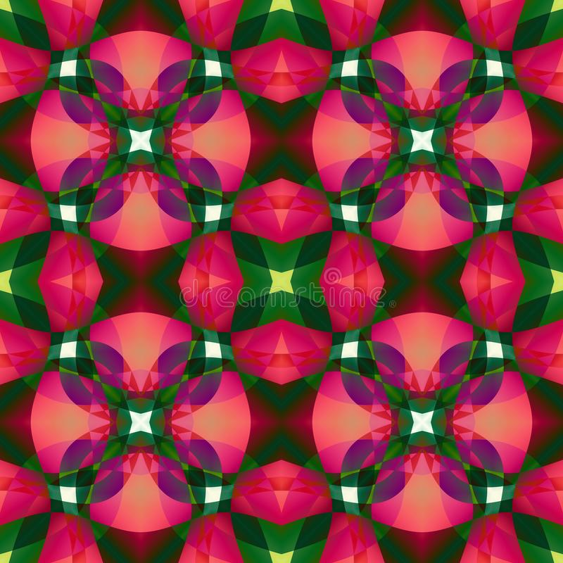 Roze groene moderne abstracte textuur Gedetailleerde illustratie als achtergrond Naadloze tegel De steekproef van het de stoffeno stock illustratie