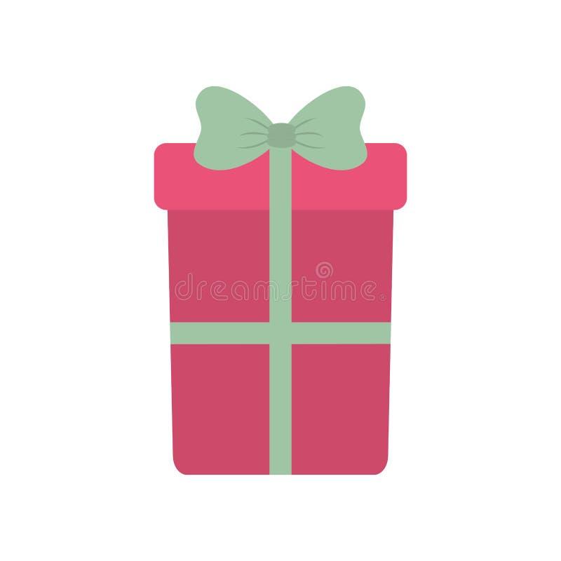 Roze grote giftdoos met boog stock illustratie