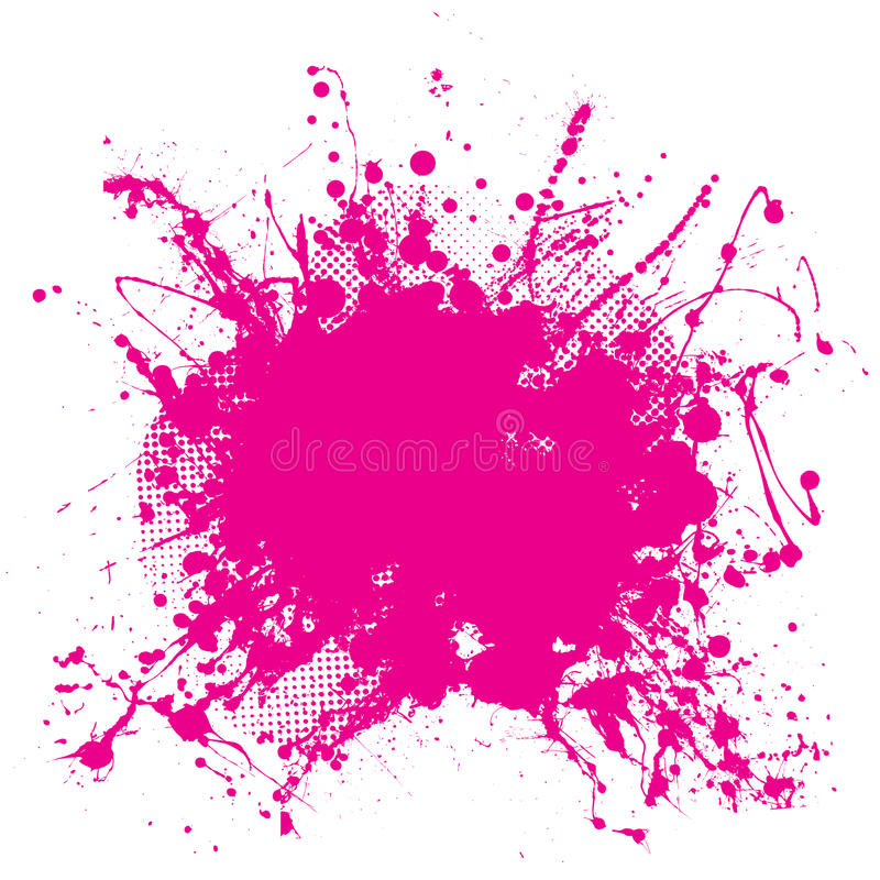 Roze grunge splat stock illustratie