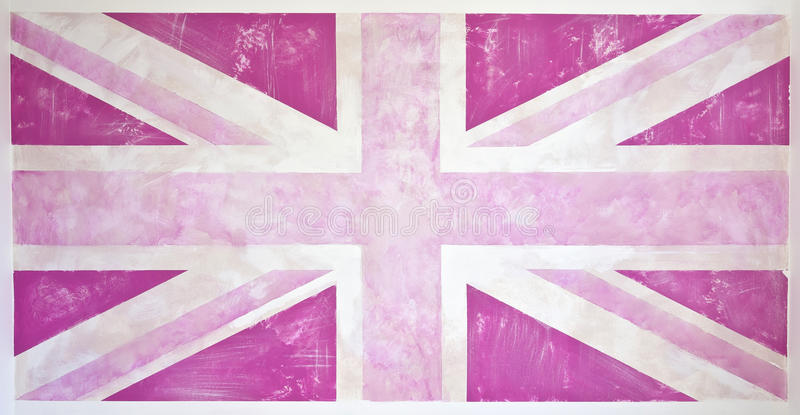 Roze Grunge Union Jack vector illustratie