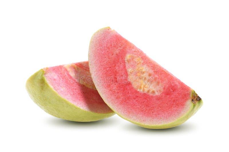 Roze Guaveplak op witte achtergrond royalty-vrije stock foto