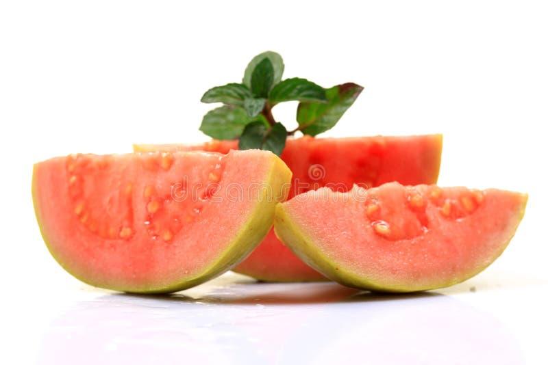 Roze guaveplakken stock foto's