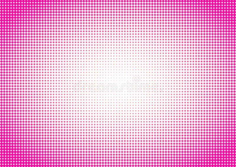 Roze Halftone Stippen als achtergrond vector illustratie