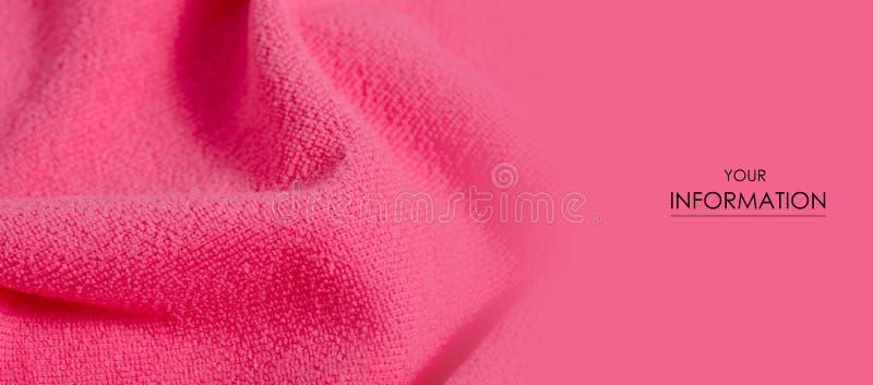 Roze handdoek microfiber macro textiel zacht patroon stock foto's