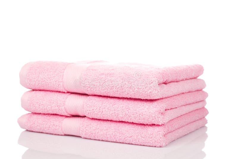 Roze handdoeken stock afbeeldingen