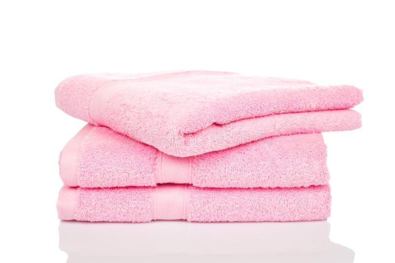 Roze handdoeken royalty-vrije stock afbeelding