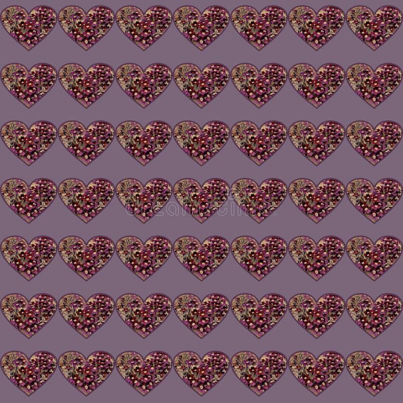 Roze hart met elementen van bloemen vector illustratie