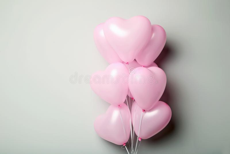 Roze hartballons royalty-vrije stock foto