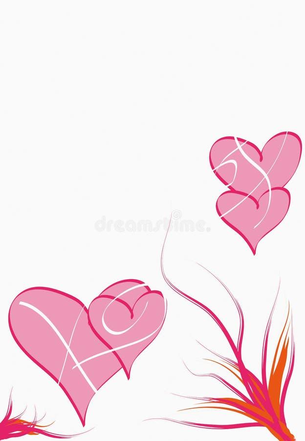 Roze harten stock afbeelding