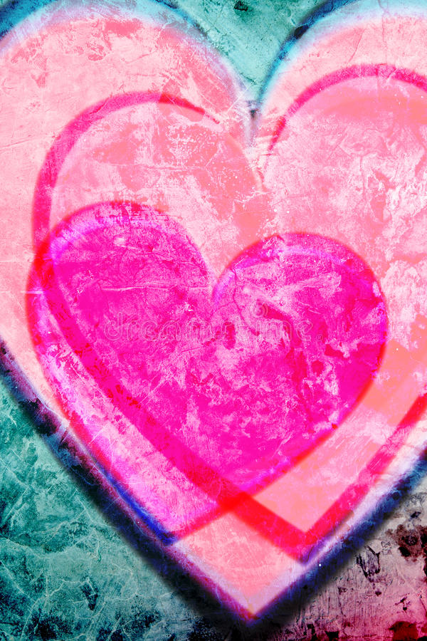 Roze hartenachtergrond royalty-vrije illustratie