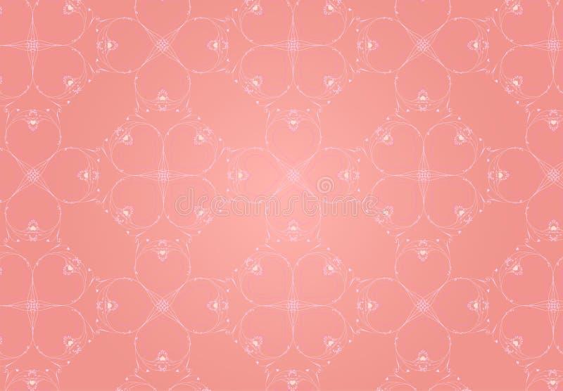 Roze Hartenachtergrond royalty-vrije stock foto