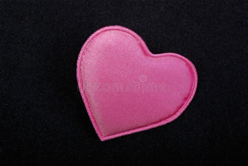 Roze hartmacro stock fotografie