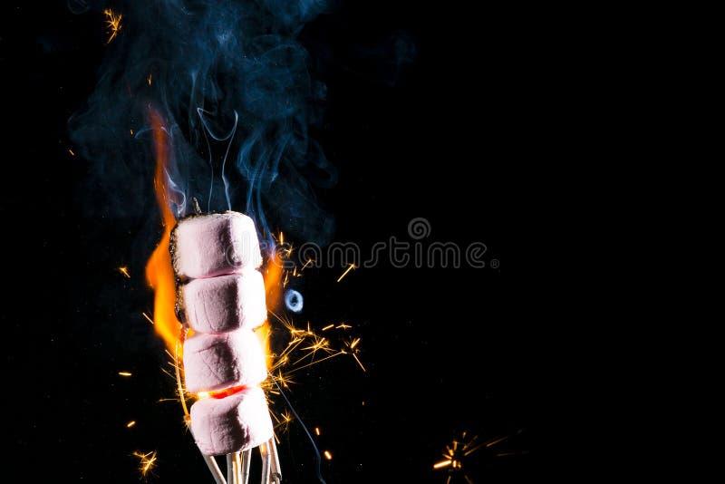 Roze Heemst op brand stock foto's