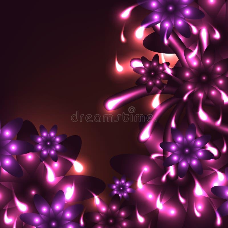 Roze heldere grafisch van de bloemgeest royalty-vrije illustratie