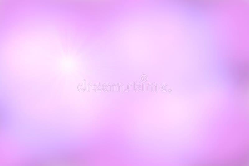 Roze hemelachtergrond, Abstract onduidelijk beeld stock illustratie