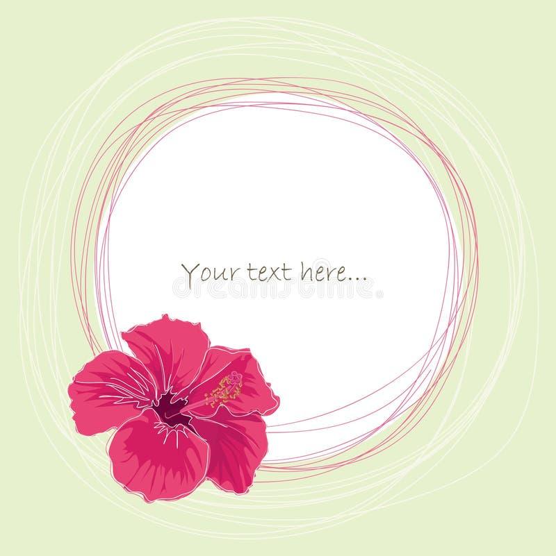 Roze hibiscus stock illustratie
