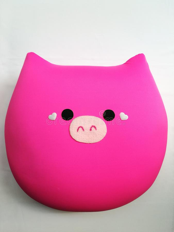 Roze hoofdkussen royalty-vrije stock afbeeldingen