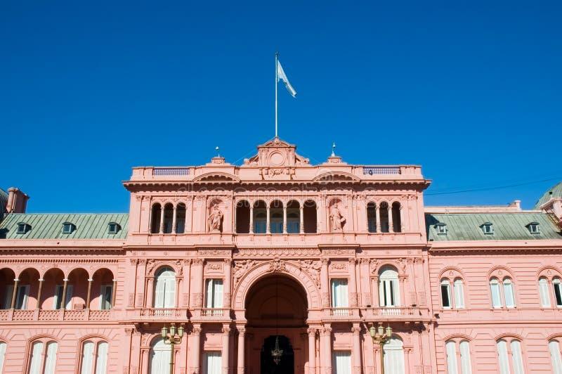 Roze huis, Buenos aires. royalty-vrije stock afbeeldingen