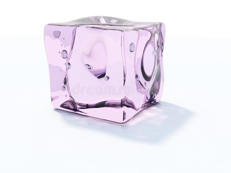 Roze ijsblokje royalty-vrije stock afbeelding
