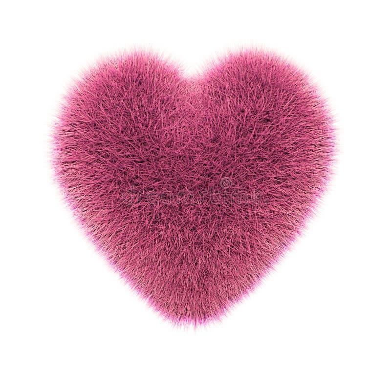 Roze, infrarood stekelig hart royalty-vrije illustratie
