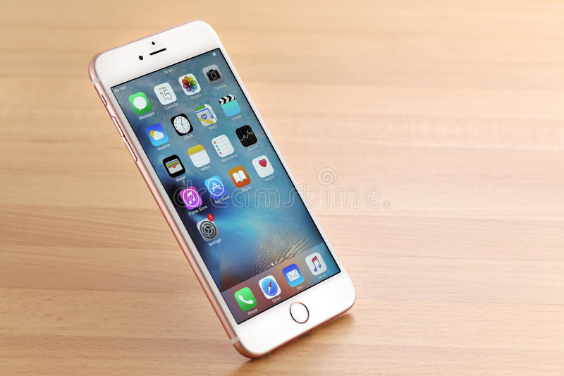 Roze iPhone 6S plus stock afbeelding
