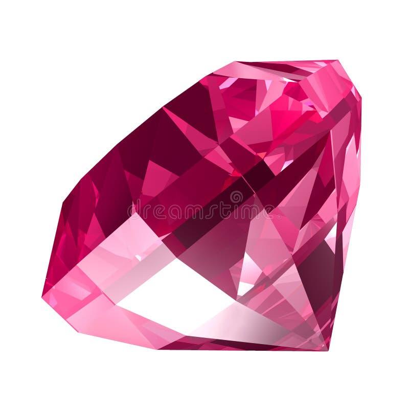 Roze juweel stock illustratie