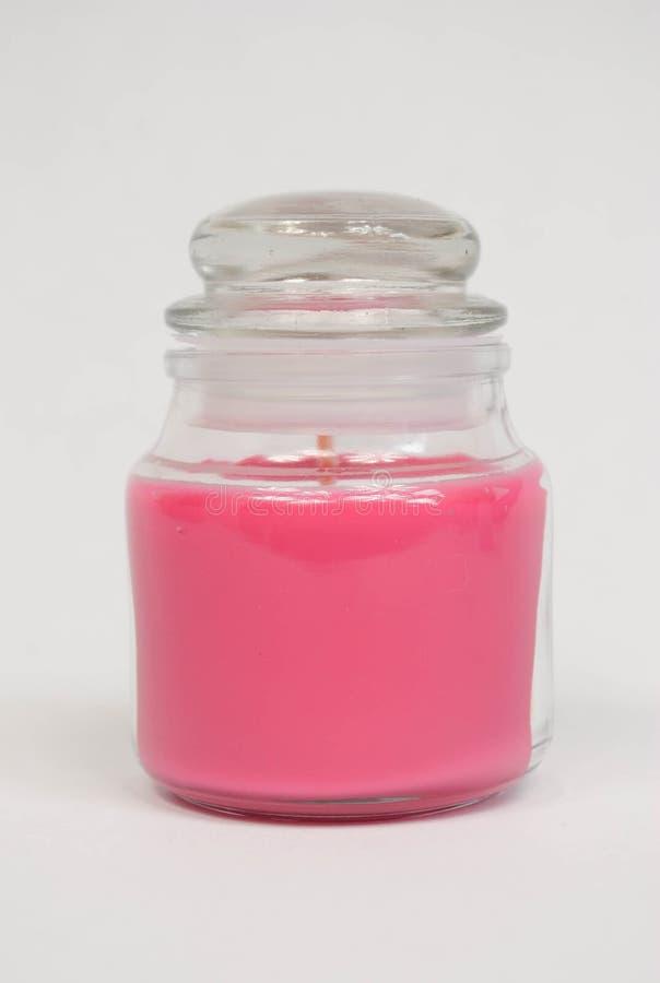 Roze kaarskruik stock foto