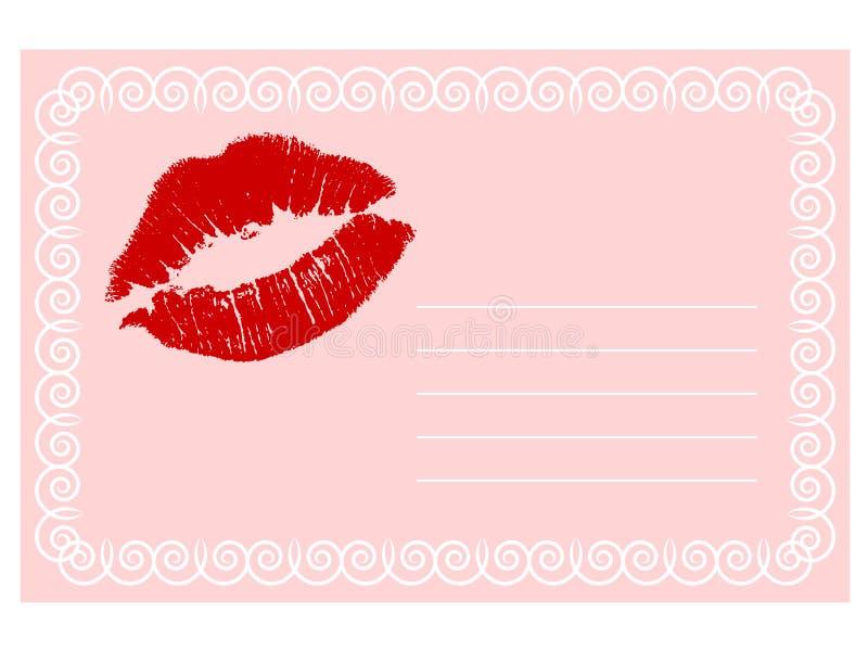 Roze kaart stock illustratie