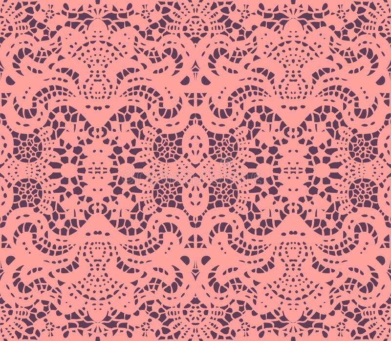Roze kantdoily royalty-vrije illustratie
