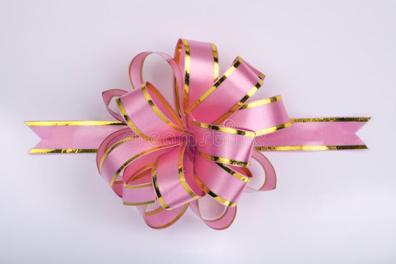 Roze Kerstmisboog stock foto